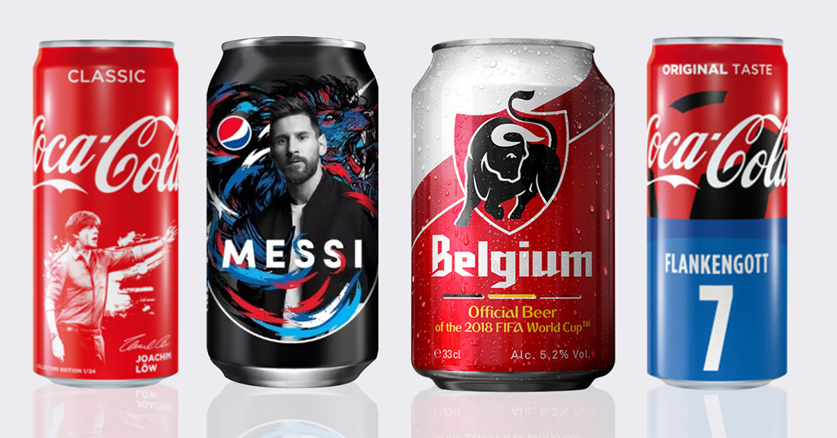 Cans Fifa World Cup Russia 2018